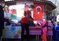 Türk askerinden Afganistana yardım eli
