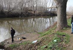 Edirnede nehir kenarında patlamamış top mermisi bulundu