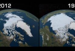 Son dakika... NASA acı tabloyu paylaştı 1984ten 2012ye kadar büyük değişim