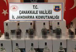 Çanakkalede 888 litre kaçak etil alkol ele geçirildi