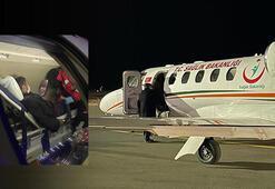 Kazakistanda rahatsızlanan tır şoförü ambulans uçakla Erzuruma getirildi