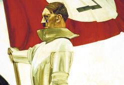 Hitler'in resmine süngü fırlatılmış