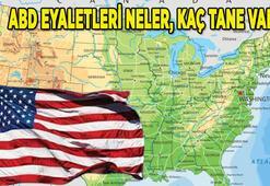 ABD eyaletleri neler ABDde kaç tane eyalet var