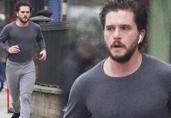 Kit Harington sabah koşusunda görüntülendi