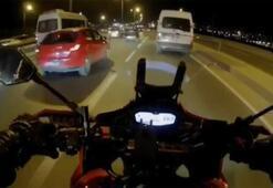 E-5 Karayolu'nda tartıştığı motosikletliye çarpıp kaçtı