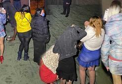 Konyada eğlence mekanlarında şok baskın Çatıda yakalandılar