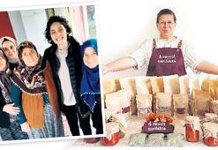 Kadın üreticiden 365 gün açık pazar