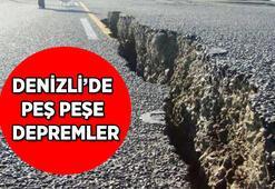 Denizlide peş peşe depremler 8 Ocak Türkiyede en son nerede, kaç şiddetinde deprem oldu