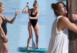 Jennifer Lopezin izole tatili Kürek çekti, meditasyon yaptı