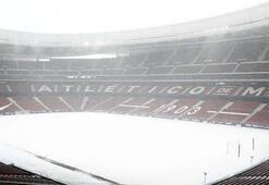 Atletico Madrid maçı kardan dolayı iptal
