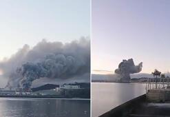 İrlandanın Cork Limanında büyük yangın