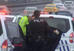 Üsküdarda polisten kaçan şüpheliler Haliç Köprüsünde yakalandı