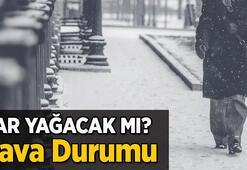İstanbula kar yağacak mı Meteorolojiden son dakika İstanbul hava durumu tahminleri