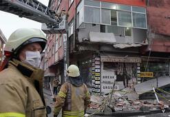 Sultangazide binanın balkonu çöktü