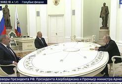 Moskovada Putin, Aliyev ve Paşinyan görüşmesi başladı