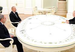 Son dakika... Moskovada Putin, Aliyev ve Paşinyan görüşmesi başladı