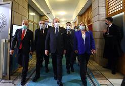 TBMM Başkanı Şentop, parlamento muhabirleriyle bir araya geldi