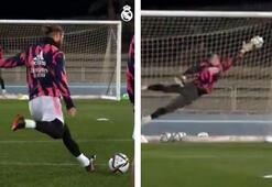 Sergio Ramos hayran bıraktı Antrenmanda şık vuruş...