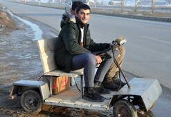 Yüksekovalı kardeşler hurda malzemeden elektrikli araç yaptı