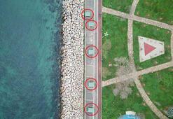 Kadıköy sahilinde tartışma yaratan görüntü Şeritle kapatıldı