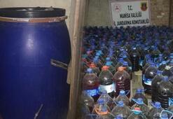 Manisada 3 bin 365 litre sahte içki ele geçirildi
