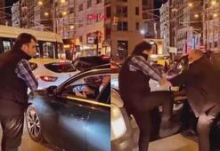 Sirkecide trafikteki tekmeli tokatlı kavga