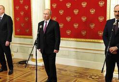 Son dakika... Moskovadaki üçlü toplantı Putin, Cumhurbaşkanı Erdoğanı bilgilendirdi
