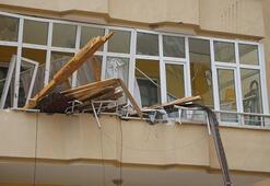 Son dakika... Fırtına kenti yıktı geçti Temizlik yapan kadın yaralandı