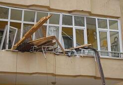 Fırtına kenti yıktı geçti Temizlik yapan kadın yaralandı