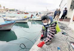 Kuşadası'ndaki tekneler güvende