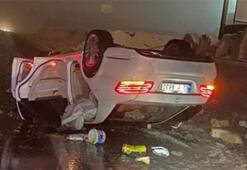 Kontrolden çıkan araç takla attı: 1 ölü, 2 yaralı