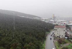 Beklenen kar yağışı İstanbulda başladı