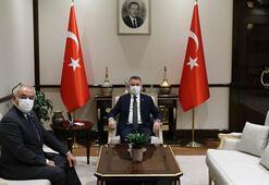 Cumhurbaşkanı Yardımcısı Oktay, DSP Genel Başkanı Aksakalı kabul etti