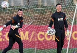 Son dakika - Galatasarayda Muslera takımla birlikte çalıştı