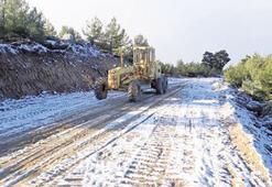 Aydın'da kar hazırlığı
