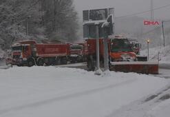 Bolu Dağında kar yağışı etkisini sürdürdü