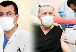 Sosyal medya onu konuşuyor Erdoğana aşı yapan doktor...