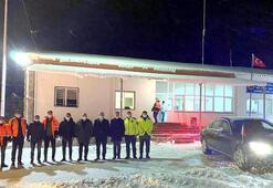 Erzincan'da kar yağışı, ulaşımı aksattı