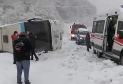 Son dakika... Zonguldak-İstanbul karayolunda yolcu otobüsü devrildi Yaralılar var