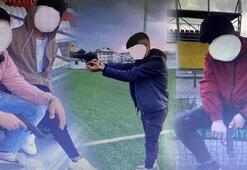 Marmarislileri korkutan silahlı çocuklar