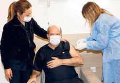 KKTC'de ilk aşı Tatar'a yapıldı