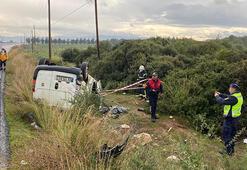Feci kaza Takla atan araçtan sağ kurtulamadı