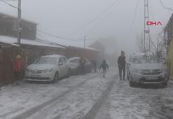 Sarıyerde kar yağışı, keyfini çocuklar çıkardı