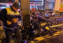Ataşehirdeki kazadan feci görüntüler