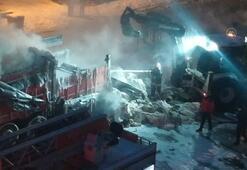 Pamuk yüklü kamyonda çıkan yangın söndürüldü