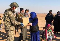 Mehmetçik, Barış Pınarı bölgesinde yardımlarına devam ediyor