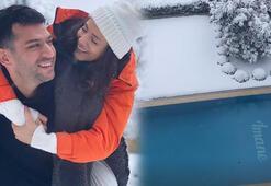 Murat Yıldırım eşi Iman Elbaninin adını havuza yazdırdı