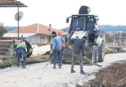 Pamukkale sokakları çamurdan kurtuluyor