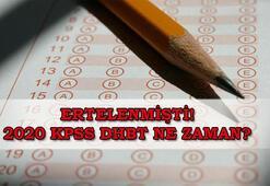 Ertelenen 2020 KPSS DHBT ne zaman ÖSYM sınav takvimine göre KPSS DHBT tarihi...