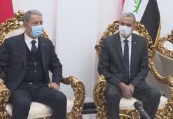 Milli Savunma Bakanı Akar, Bağdatta Irak İçişleri Bakanı El Ganimi ile görüştü